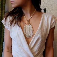 Onatah Tassel Necklace | Sand