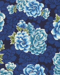 Imperial Collection 13 - Spring Peony - Midnight Blue/Silver