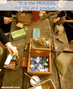 """""""It is the process, not the end product."""" - from Early Life Foundations nice construction idea interesting combination of glue and metal fasteners"""
