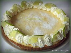 Key Lime Pie  http://ladifferencecatering.blogspot.co.uk/2013/05/key-lime-pie.html