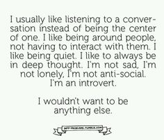 "INFP | ""I like to be around people, not interacting with them."""