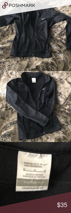 Nike Therma-Fit Jacket Nike Golf Tour Performance Therma-Fit ZIP up jacket! Worn three times total super warm jacket for exercising or a round on the green!   Guaranteed SuperFast Shipping and Great Customer Service!   Check out my closet and find some gems to add toyoir collection! Happy PoshMark Shopping Everyone 😘 Nike Jackets & Coats