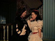 Barbara O'Neill as Ellen O'Hara, Scarlett's mother was 28 years old & Scarlett was 25 years old at the time of filming.