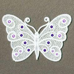 LFS Schmetterling Hotfix-Crystal Maschine Stickerei von embhome