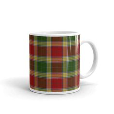 Gibbs / Gibson Scottish Tartan Clan Mug Two sizes! Printed-to-order in the U.S.A. by AbnormalBungalow on Etsy