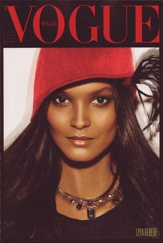 """Vogue Italia, July 2008, Liya Kebede (one of 4 covers for the famous """"Black Issue"""" featuring only black model)"""
