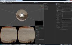 "need 1. unity3d 2. blender 3. 360 video sample 4. oculus rift device, sdk  blender lecture ""How To Unwrap A UV Sphere In Blender"" : youtube.com/watch?v=yc0b5GcYl3U"