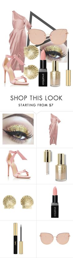 """Aphrodite"" by the-mad-hattess on Polyvore featuring Michelle Mason, Alexandre Birman, Stila, Tiffany & Co., Smashbox, Yves Saint Laurent and Topshop"