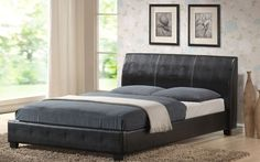 Mattress Online Ltd Valencia Faux Leather Bedstead, King Size, No King Size Elegant Faux Leather Bedstead in white, brown, or black http://www.comparestoreprices.co.uk/bedsteads/mattress-online-ltd-valencia-faux-leather-bedstead-king-size-no.asp