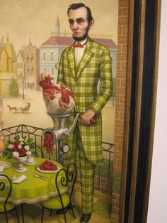 I used this one on my 40th invitation:Mark Ryden, viva mark ryden, the man is a legend