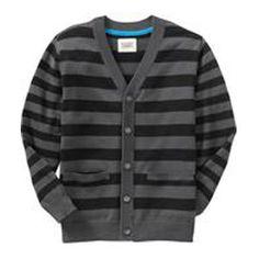Teen Fashion: Boys Striped Cardigan