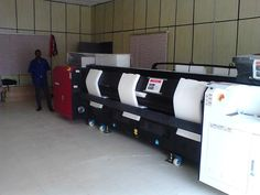 Installation of the 1st #wideformat Anapurna M3200 RTR in Abuja, Nigeria