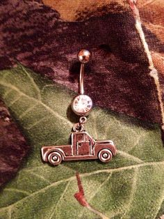 Pickup Truck Bellybutton Ring on Etsy, $10.00