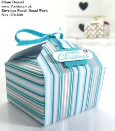 POOTLES Stampin Up ENVELOPE PUNCH BOARD WEEK The Tab Tie Box 3