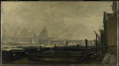 Charles-François Daubigny, St Paul's from the Surrey Side, 1871-73. © The National Gallery, London
