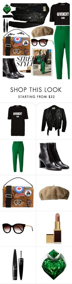 """NYFW STREET STYLE"" by blackcatme ❤ liked on Polyvore featuring Polaroid, Givenchy, Acne Studios, Marni, Yves Saint Laurent, Dsquared2, Lauren Ralph Lauren, Thierry Lasry, Tom Ford and Guerlain"