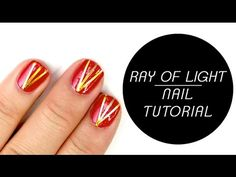 PARTY NAILS - GOLD RAY OF LIGHT NAIL ART TUTORIAL I Futilities And More