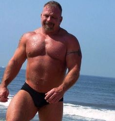 Hairy Muscular Speedo Bear - What a slab of BEEF!