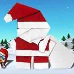 Santa Claus with Bag by Mazao Mizuno and other christmas origami