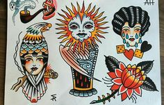 Sam ricketts Swindon Traditional Tattoo Design, Traditional Ink, Traditional Tattoo Flash, American Traditional, Pin Up Tattoos, Tatoos, Tattoo Filler, Old School Tattoo Designs, Tattoo Flash Art
