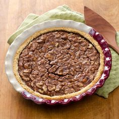 Chocolate Walnut Pie with a traditional derby day pecan pie variation - an easy and delicious gluten-free, grain-free treat.