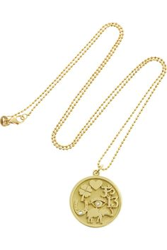 Jennifer Meyer - Good Luck 18-karat gold diamond necklace