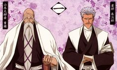 Squad 1: Genryusai Yamamoto and Chojiro Sasakibe......OMG!!!! The feels of seeing these two again huhuhu Yamamoto, Anime Comics, Division, Manga Anime, Manga Art, Anime Art, Bleach Anime, Otaku, Barakamon