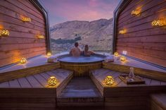 Situated in Queenstown's Shotover River canyon, we've found the perfect spot to bask in that crisp New Zealand mountain air. Onsen Hot Pools Resort and Spa is perched high on a Cliffside, overlooking alpine scenery and a river just below. | Photo Credit: Onsen Hot Pools Resort and Spa