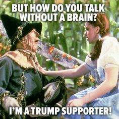 I'm sorry, but it's true for over half of his supporters