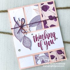 Stamping for Good | Stampin Up Natures Poem & Rooted In Nature