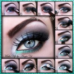 Nice smokey eye with a little color...