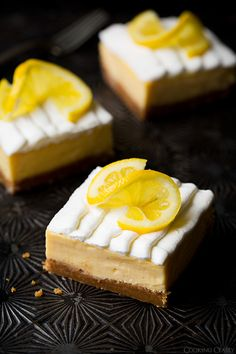 Lemon Cream Pie Bars | This lemon bar recipe tastes like a cream pie recipe! It's the best of both worlds.