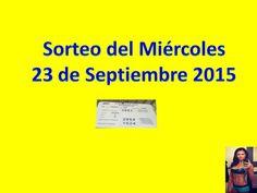 Sorteo Miercoles 23 de Septiembre 2015 Loteria Nacional de Panama