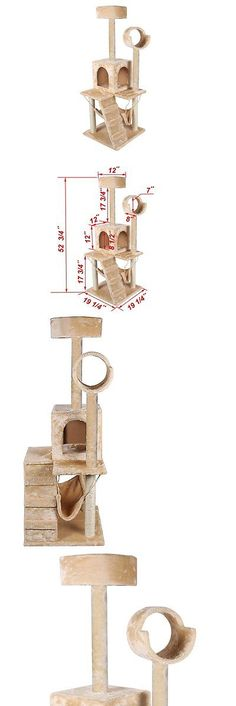 Animals Cats: 52 Cat Tree House Pet Tower Furniture Condo Scratching Post Kitten Play Scratch -> BUY IT NOW ONLY: $61.28 on eBay!