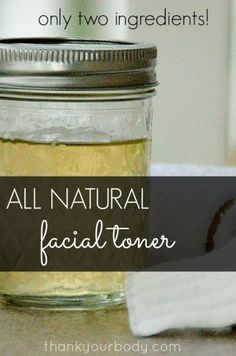 Super easy and all natural facial toner. Only two ingredients! I use ACV on my skin and it really does do wonders. Facial Toner, Facial Care, Natural Facial, Natural Skin Care, Natural Toner, Natural Oils, Natural Health, Beauty Care, Diy Beauty