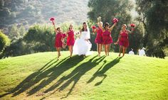 Wedding photos on the golf course at Sycuan Golf & Tennis Resort. Photo by Andy King Photography