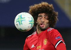 Marouane Fellaini - unfortunate face melt incident during Monday night's UEFA Super Cup match between Manchester United and Real Madrid. Photo: @tomsteinfort/Twitter Three question...