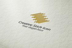 Creative Stick Icon Logo by BdThemes on @creativemarket