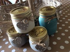 Baby Kilners painted & varnished with Annie Sloan chalk paint! Great little storage Jars! www.facebook.com/heartsncraftsbylaura