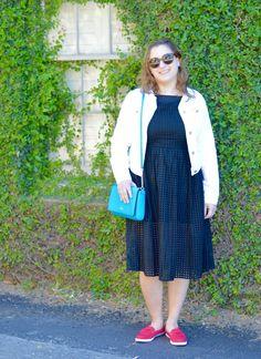 Eyelet midi dress +