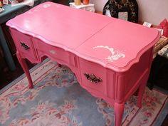 Pink desk/vanity
