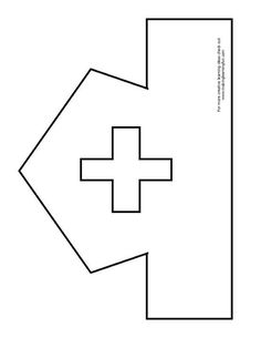 Printable Nurse Hat Template Fun Learning Printables for Kids Hat Template, Templates, Toddler Crafts, Crafts For Kids, Community Helpers Crafts, Nurse Crafts, People Who Help Us, Community Workers, Nurse Hat