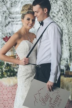 Ski inspired wedding   Lauryn Ann Photography   see more on: http://burnettsboards.com/2015/12/ski-themed-winter-wedding/