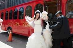 Red Trolley Transportation | Marisan Photography | TheKnot.com