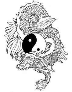 Dragon Phoenix tattoo
