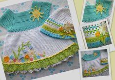 Crochet dress and hat.  So cute!