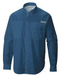 Columbia Tamiami II Long-Sleeve Shirt for Men - Dark Mountain - L