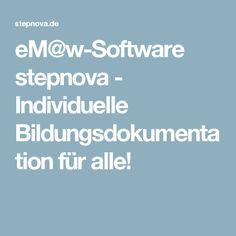 eM@w-Software stepnova - Individuelle Bildungsdokumentation für alle!