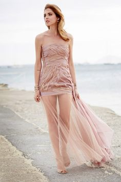 Rossorame gown worn by Chiara Ferragni at Magnum 25th birthday party  during Cannes Festival 2014