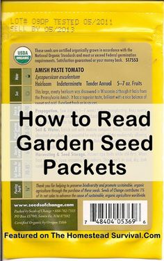 The Homestead Survival | How to Read and Decode The Back of a Garden Seed Packets | Gardening _ http://thehomesteadsurvival.com